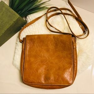 Handbags - Embossed Leather Crossbody Purse